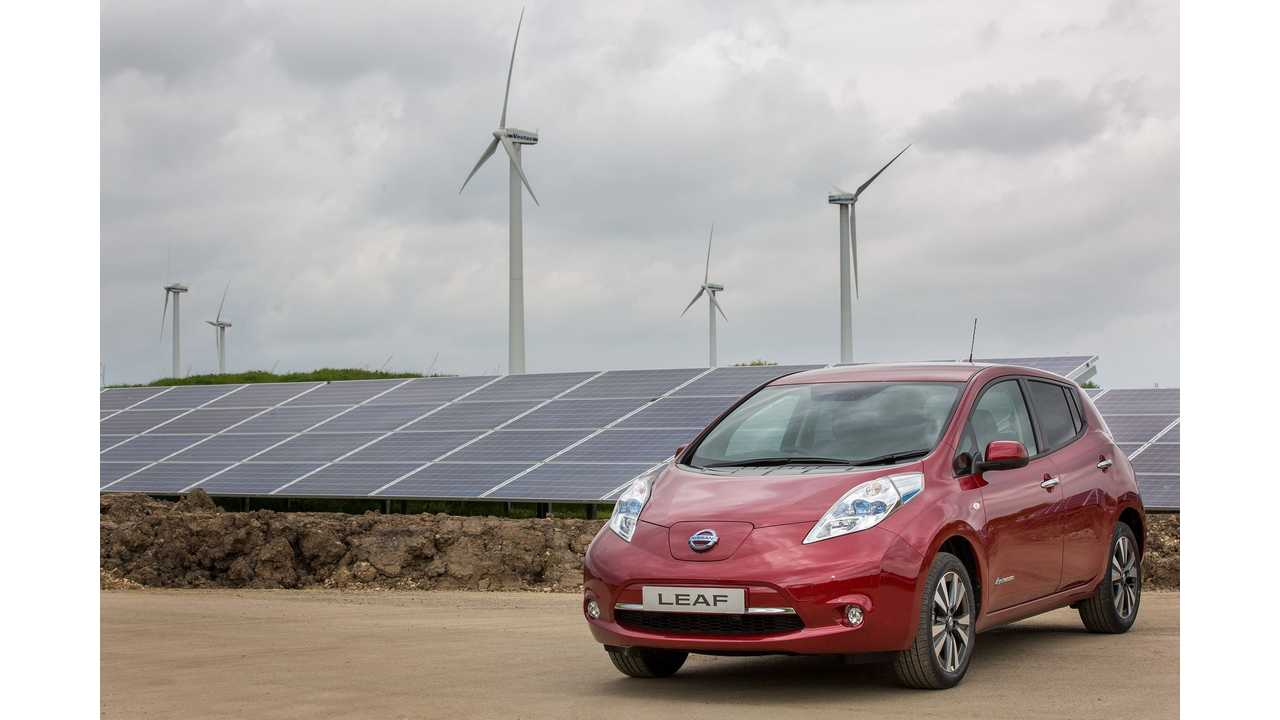 Nissan Switches On Solar Farm To Power UK Car Production, Will Build 31K Cars on Renewables