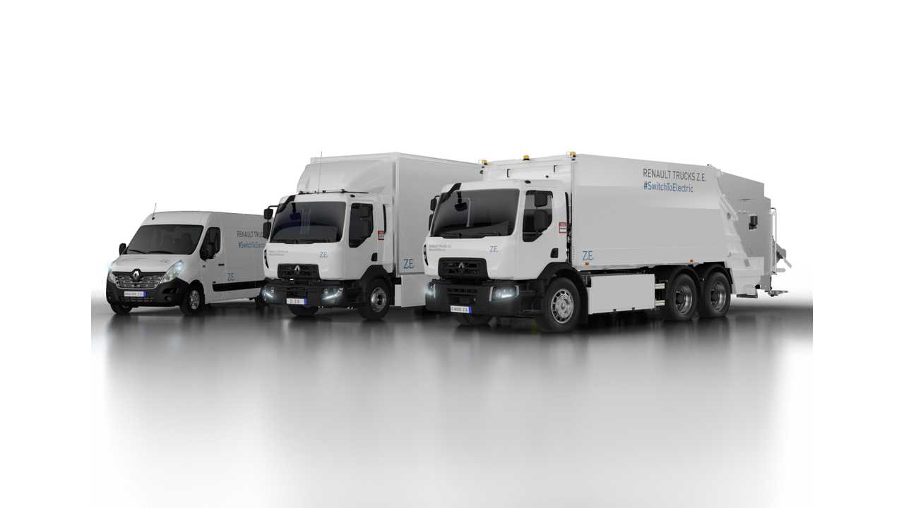 Renault Unveils New Electric Truck Lineup