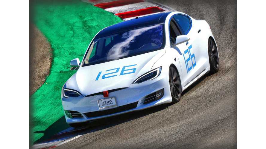Tesla Model S P100D Sets Laguna Lap Record