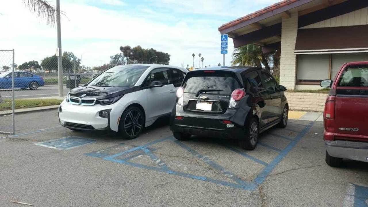 BMW i3 And Chevrolet Spark EV Size Comparison