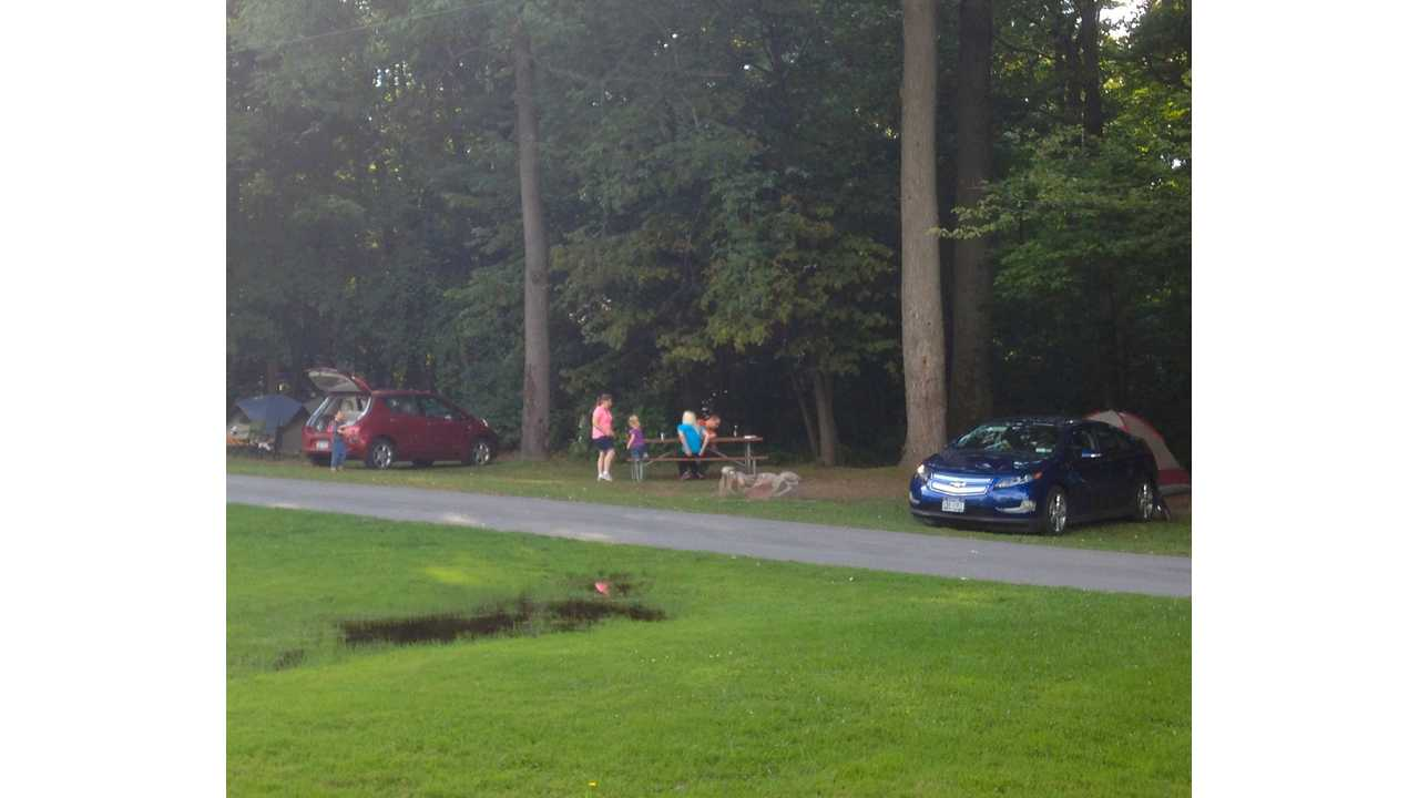 Nissan LEAF And Chevy Volt Go On A Camping Trip