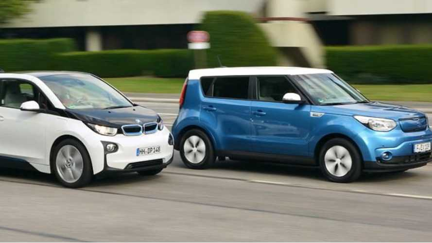 2015 Kia Soul EV Compared To BMW i3 - Video