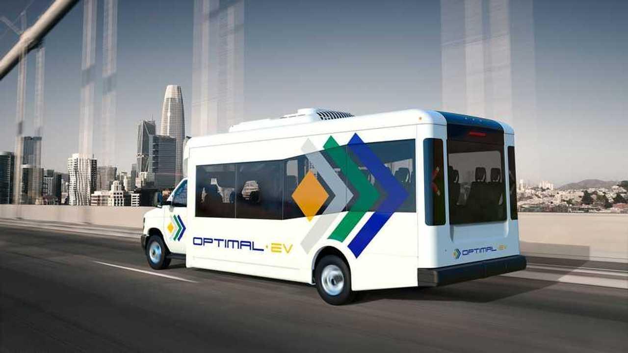 Optimal-EV S1LF Low-Floor Shuttle Bus