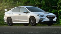 Subaru WRX 2022, renders