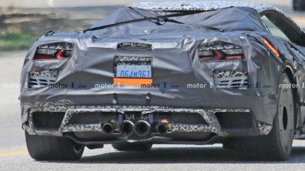 C8 Corvette Z06 spied wearing massive Countach-sized rear tyres