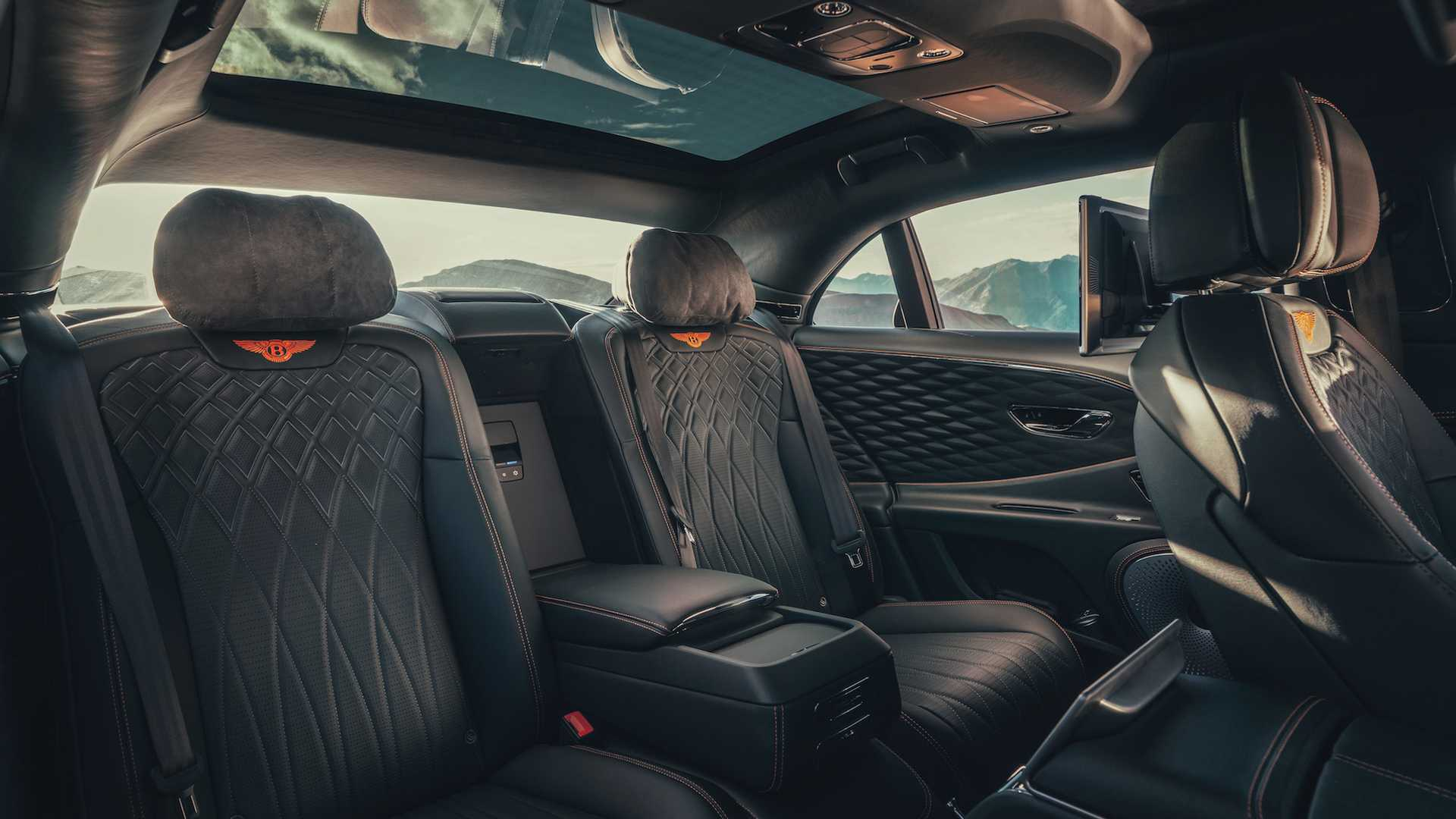 Bentley Flying Spur rear seat options are virtually infinite