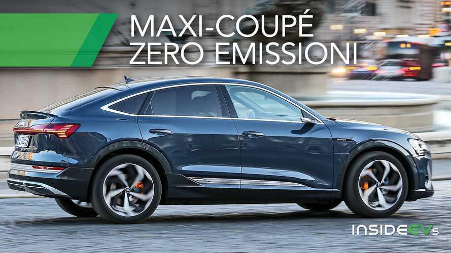 Audi e-tron Sportback, come va il SUV elettrico vestito da Coupé