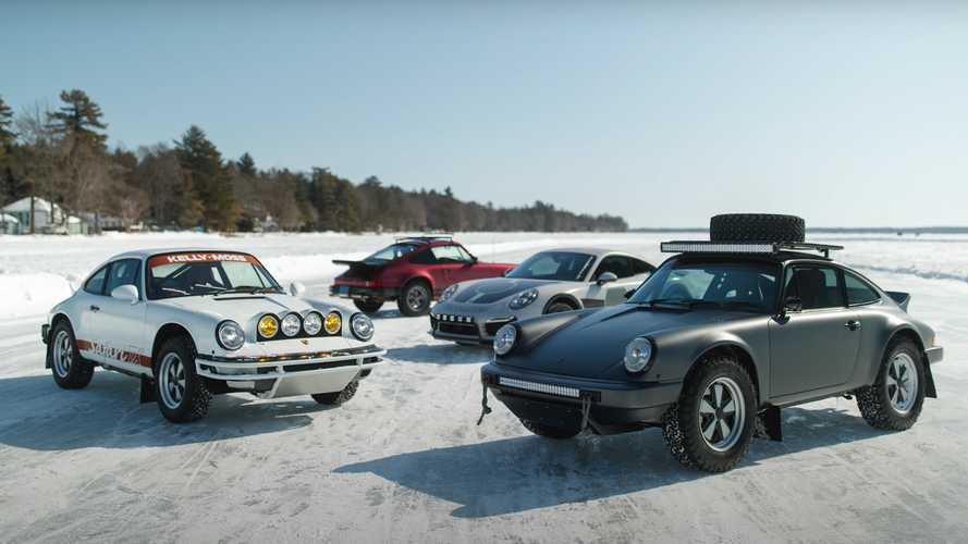 Safari Porsche 911 on frozen lake isn't just for making snow angels