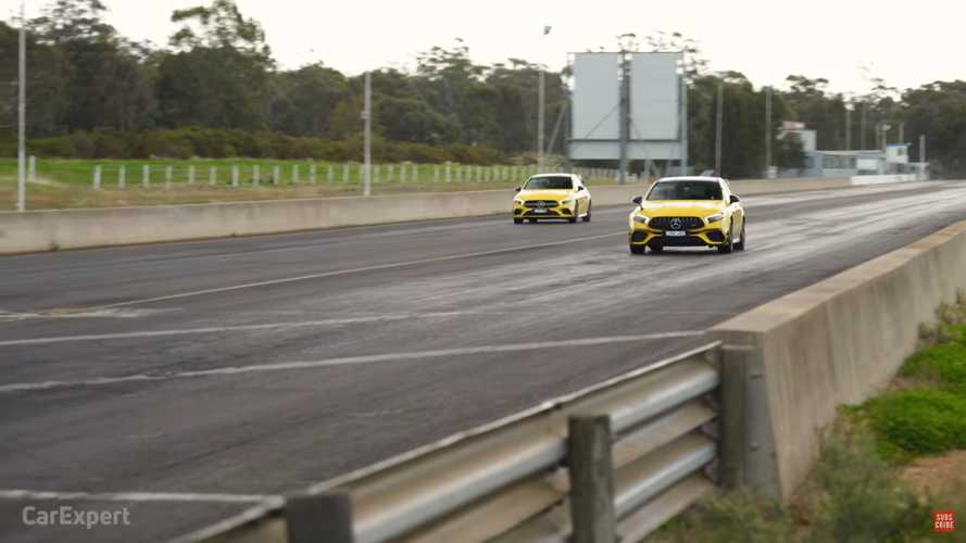 Részletes videó arról, mekkora a teljesítménybeli különbség a Mercedes-AMG A35 és A45 S között