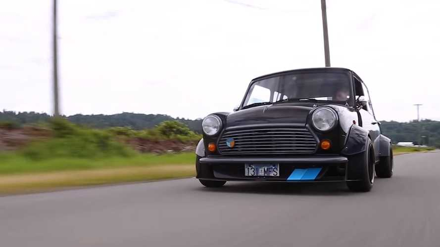 Mid-engined Mini screams to 13,000 RPM with Kawasaki Ninja engine