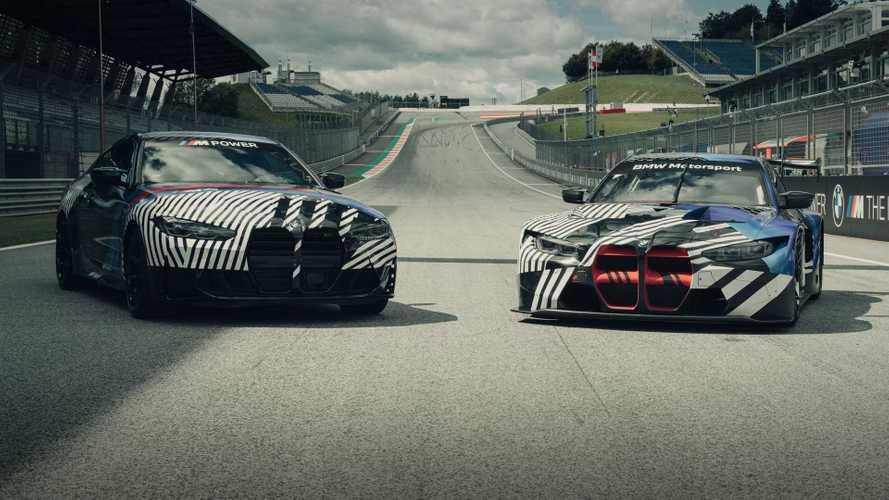 Devasa ızgara tasarımı BMW M4'ün yarışçı türevi GT3'te nasıl görünecek?