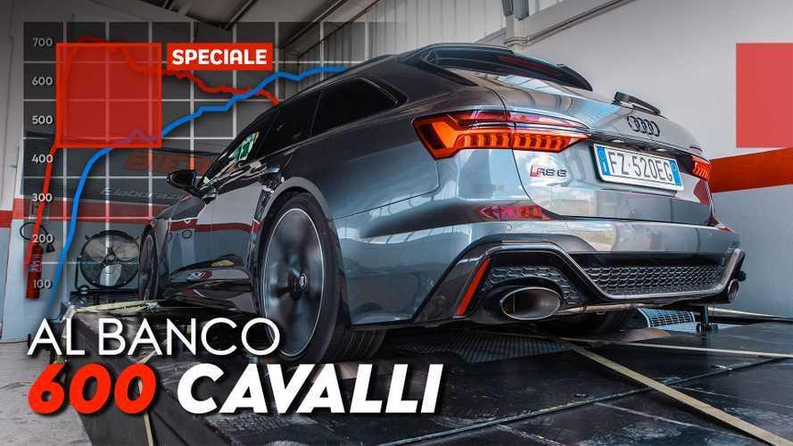"""Audi RS 6 Avant, la vera potenza misurata nel """"dyno test"""""""
