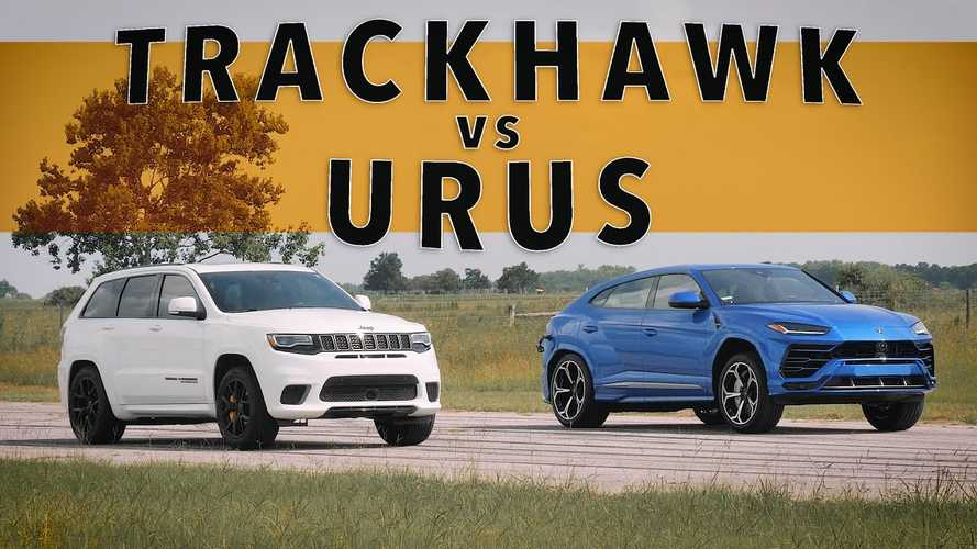 See Lamborghini Urus Drag Race Jeep Trackhawk For SUV Supremacy