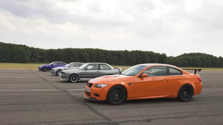 BMW M3 E30 vs CSL vs GTS vs CS drag race