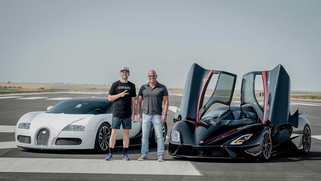 Bugatti Veyron SSC Tuatara Drag Race
