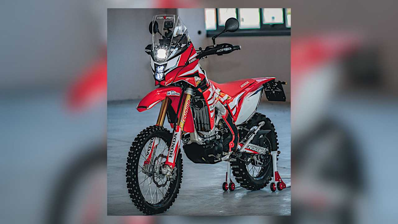 Honda CRF450L RebelX Adventure Rally Kit Full View
