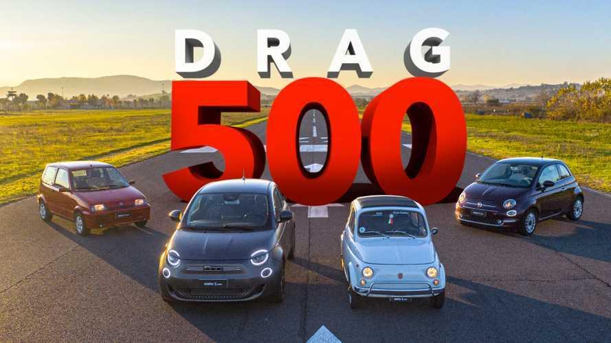 Fiat 500 contro 500, una gara di accelerazione (impossibile) lunga 60 anni!