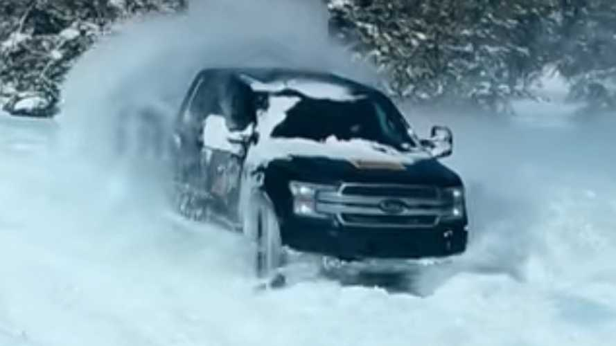 Ford F-150 Electric Teased Playing In The Snow