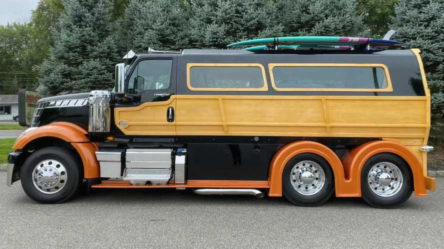 Semi Truck Woody Wagon Is 11-Foot-Tall Tribute To Hot Rodding