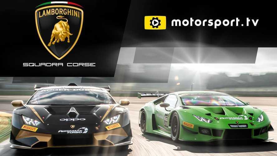 Lamborghini Squadra Corse lanza su canal exclusivo en Motorsport.tv