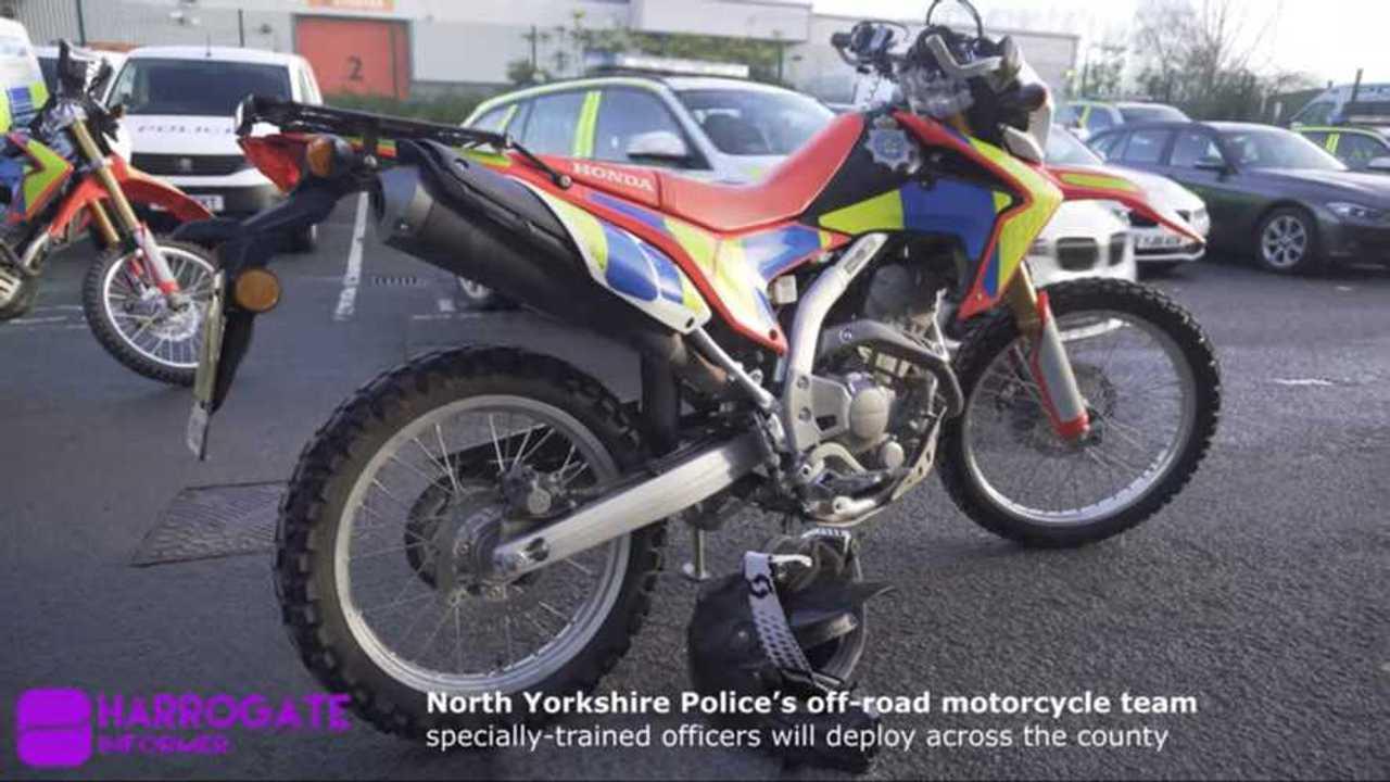 Honda CRF250L Police Bike