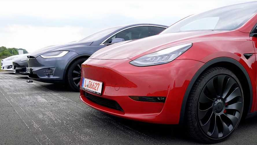 Watch Tesla's full lineup in this latest S3XY drag race