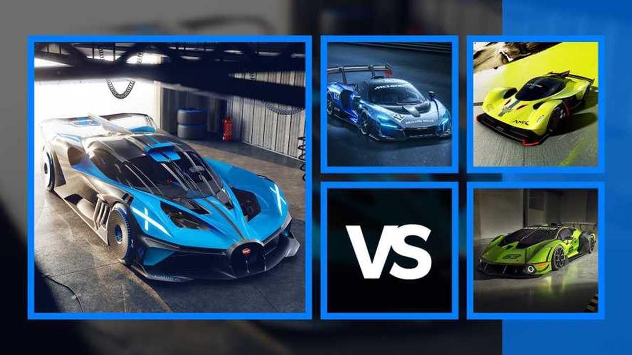 Bugatti Bolide vs hypercar da pista