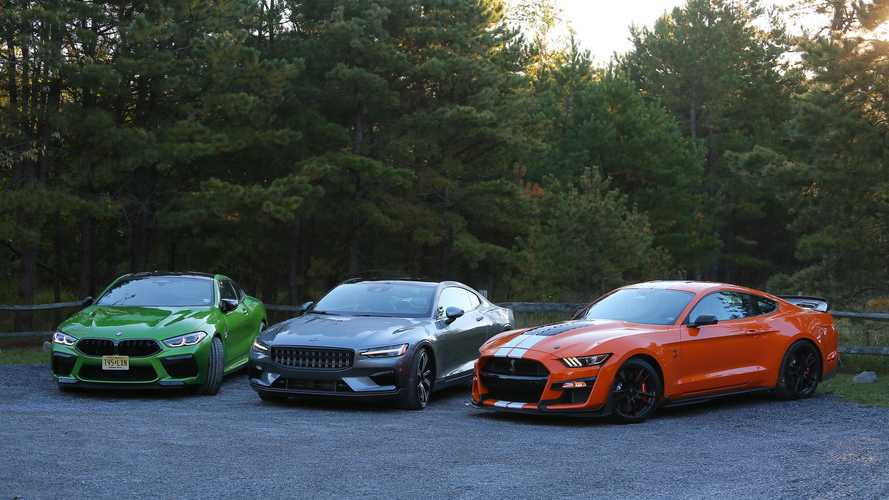 Modern Muscle Melee – Polestar 1 Vs BMW M8 Competition Vs Shelby GT500
