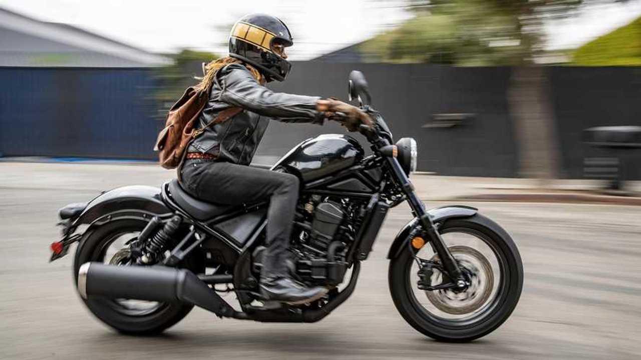 2021 Honda Rebel 1100, Action, City, Profile, Right, Female Rider
