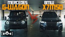 bmw x7 m50i mercedes g63 drag