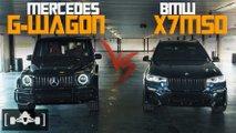 bmw x7 m50i mercedes g63 drag
