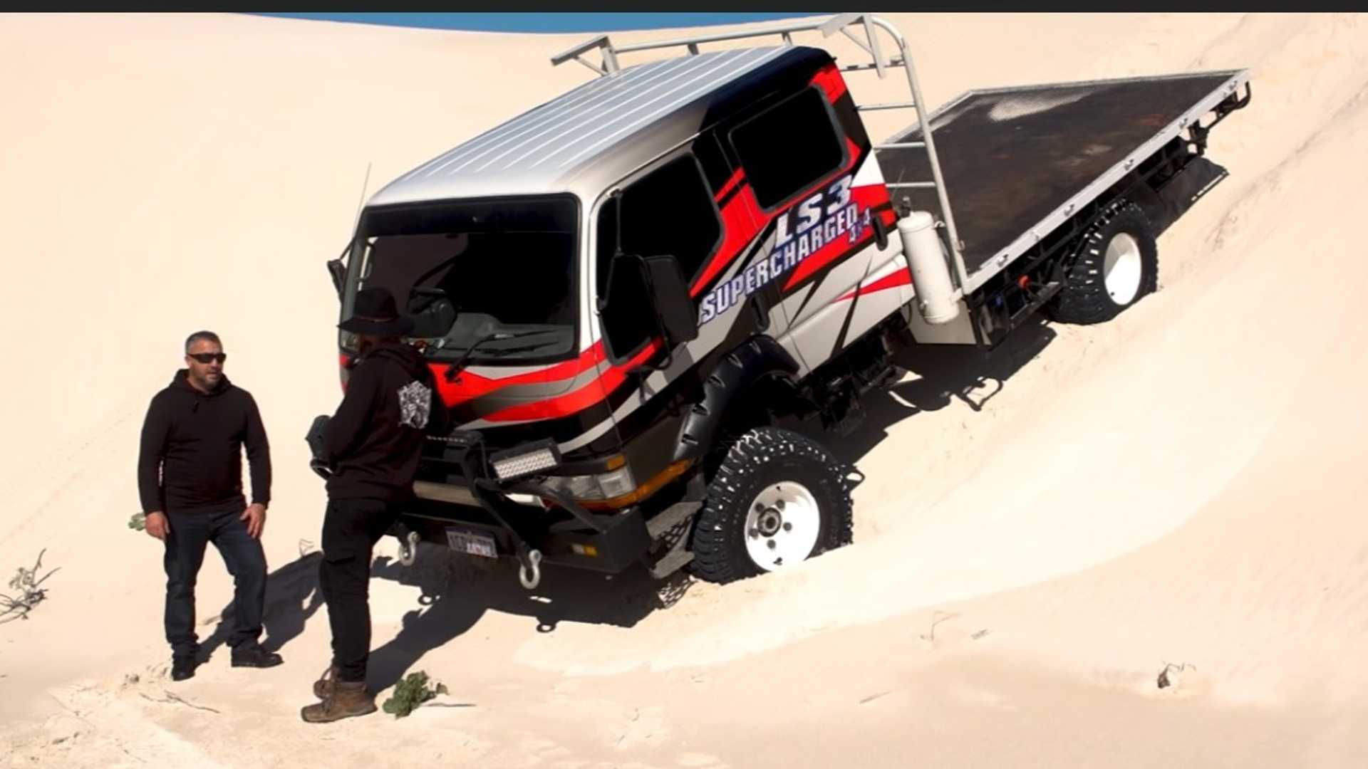 Mitsubishi Canter Camper Has A V8 Can Go Anywhere