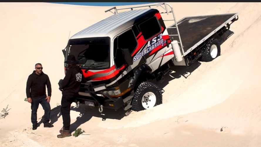 Mitsubishi Canter Camper Has A V8, Can Go Anywhere