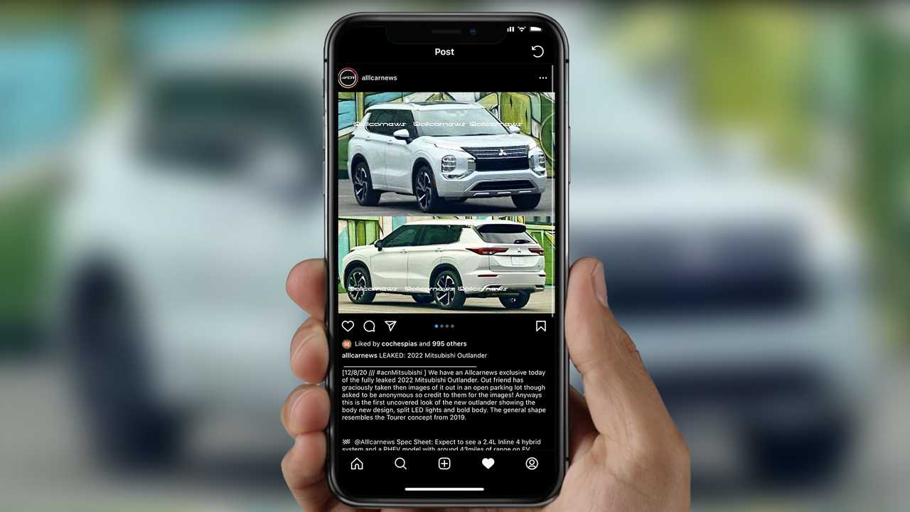 2021 Mitsubishi Outlander leaked images