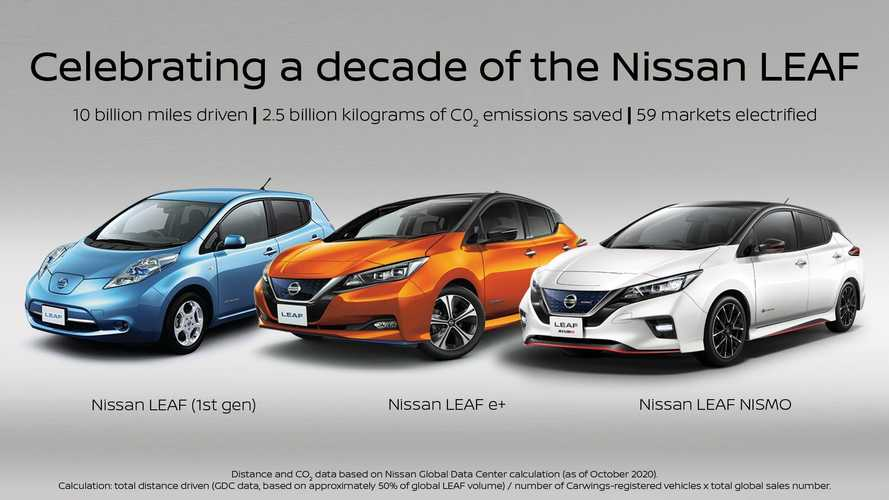 Nissan Is Celebrating 10th Anniversary Of The LEAF