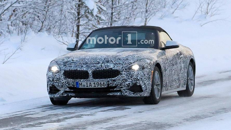 Pair Of BMW Z4s Spied In Different Trims Testing On Snowy Road