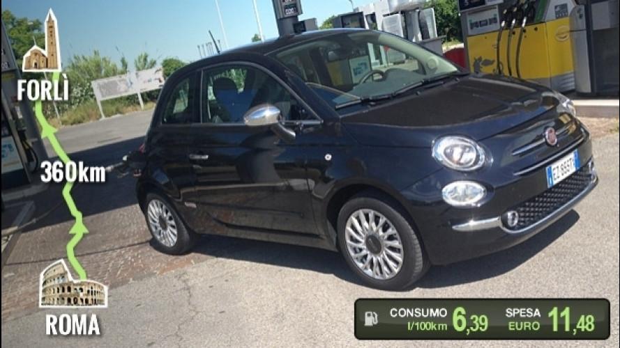 Fiat 500 1.2 GPL, la prova dei consumi reali