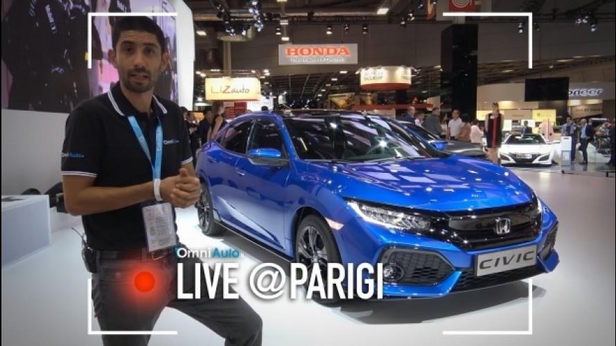 Salone di Parigi, Honda Civic, non è mai stata banale. E mai lo sarà [VIDEO]