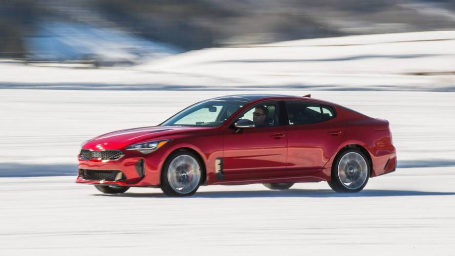 2018 Kia Stinger Ice Driving