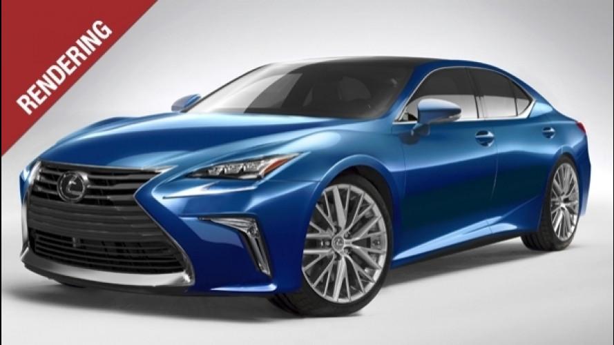 Lexus LS, linee da sportiva per la quinta generazione