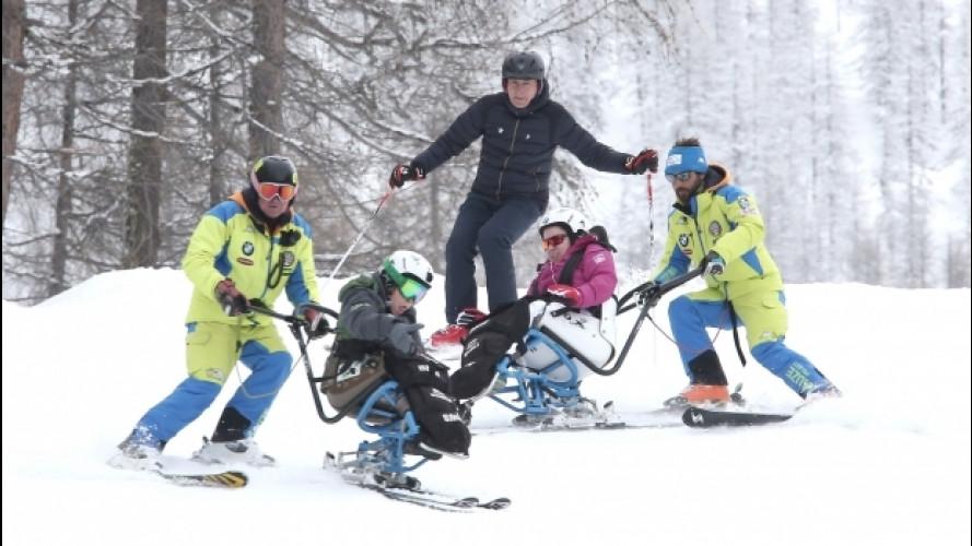 BMW, sulle piste da sci con Zanardi e Malagoli