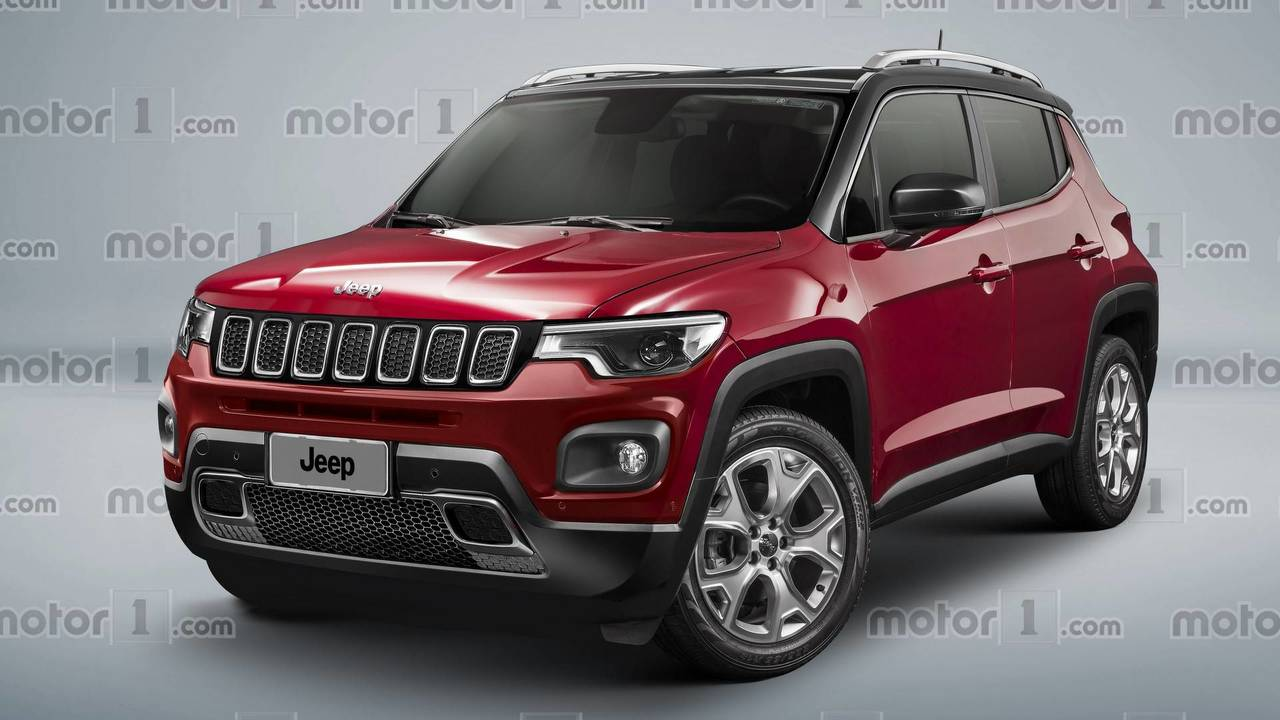 Baby Jeep crossover rendering