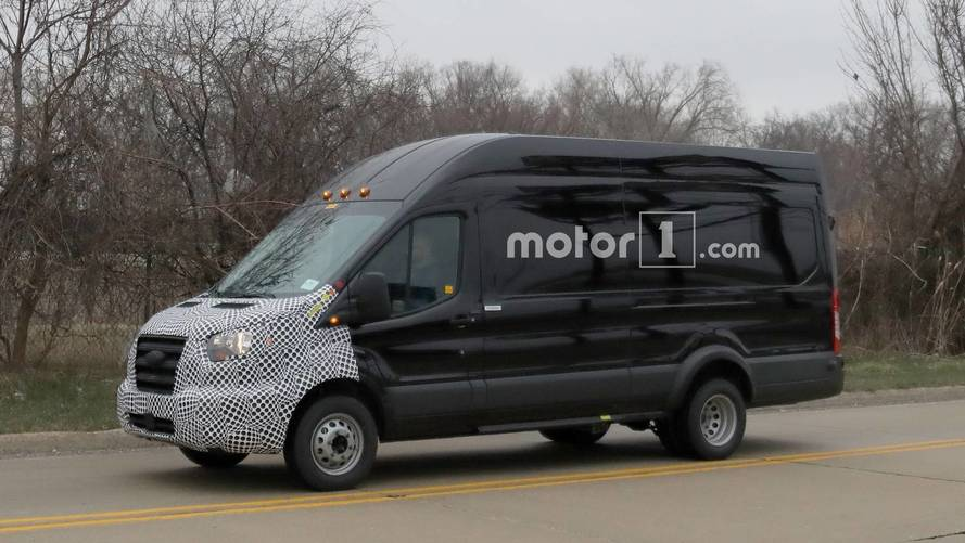 Ford Transit Cargo Van Spied Getting Ready For Minor Facelift