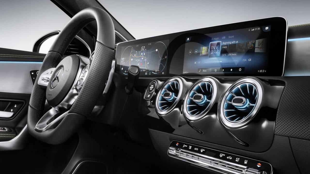 Mercedes A Class Shows Off Tech Heavy Dashboard In Great Detail