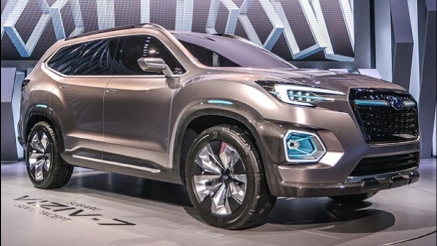 Subaru Viziv-7, prove di SUV a sette posti