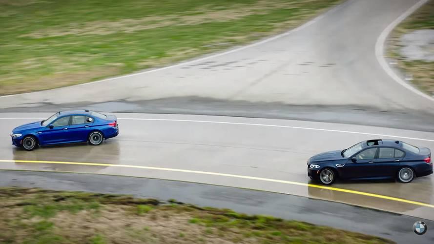 BMW, yeni M5'in drift yeteneklerini sergiledi