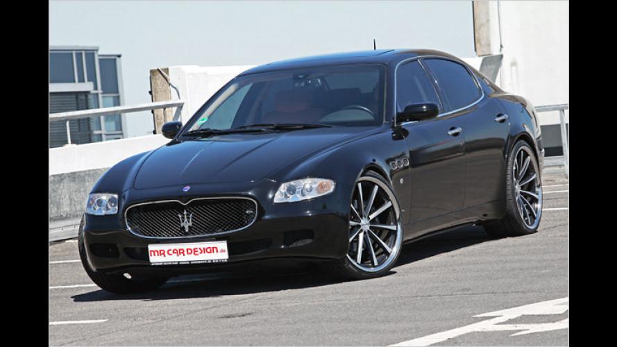 Tief und schwarz: Maserati Quattroporte von MR Car Design
