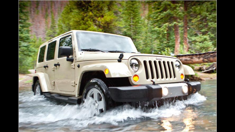 Jeep Wrangler (2011): Neuer Innenraum und farbiges Hardtop