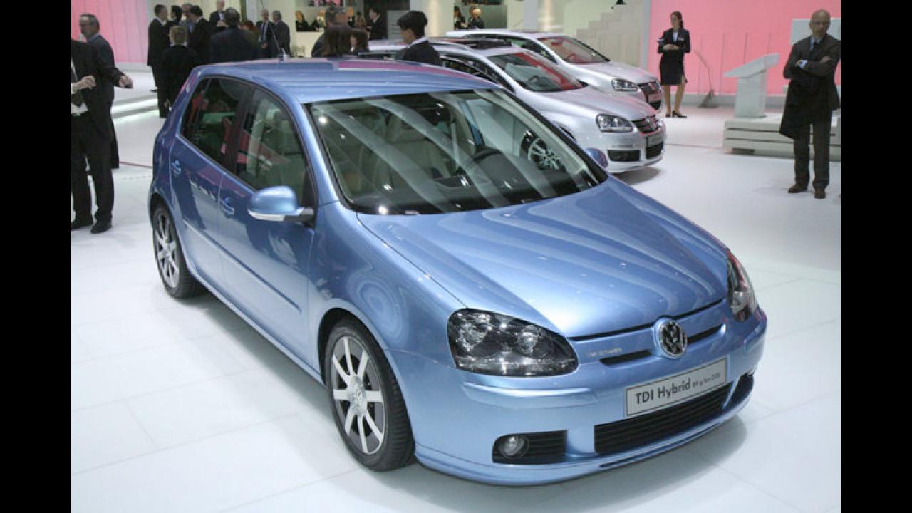 Volkswagen Golf TDI Hybrid: Mit nur 3,4 Liter auf 100 Kilometer ist die Golf-Studie fast so sparsam wie der selige Lupo 3L
