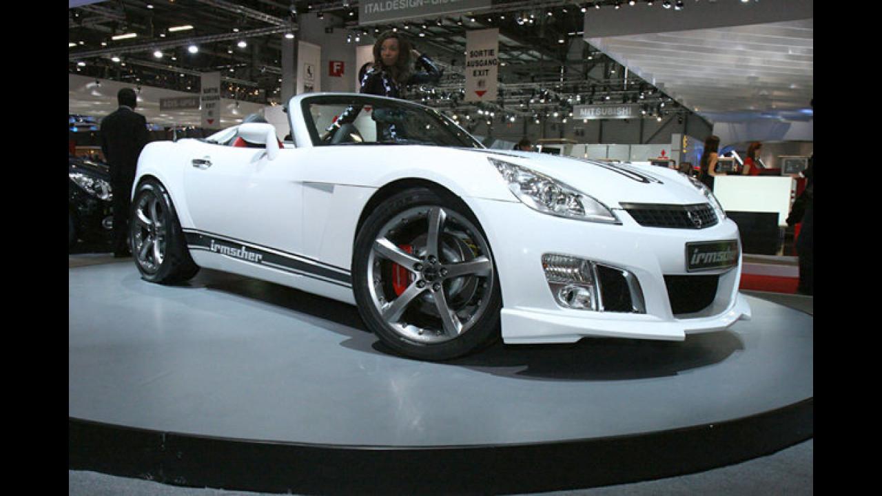 Über-Opel: Zum 40-jährigen Firmenjubiläum quetscht Irmscher einen 6,0-Liter-V8 in den Opel GT. Das Ergebnis ist der Irmscher GT i40 mit 480 PS